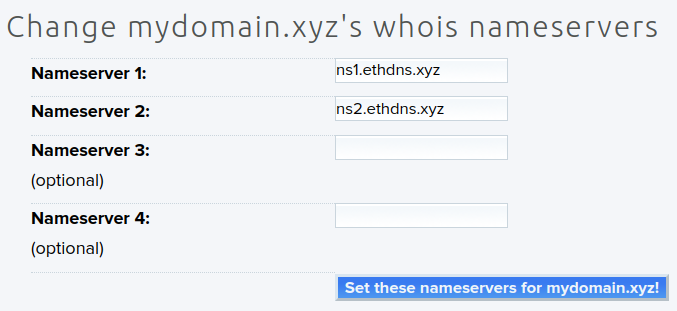 Setting nameservers with your DNS provider